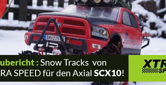 Xtra Speed – Snow Tracks und Zubehör Einbau und Test
