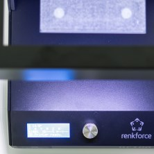 Renkforce RF100 3D Drucker - LCD Display und Stellrad