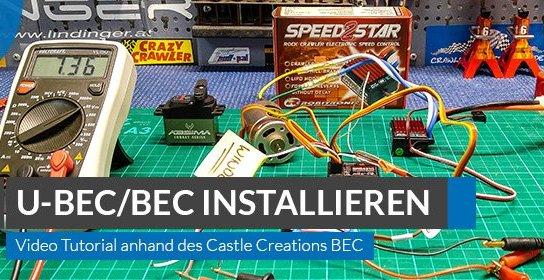 U-BEC / Externes BEC installieren & programmieren – Video Tutorial