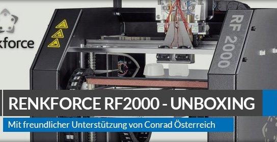 Beitragsbild: Renkforce RF2000 3D-Drucker