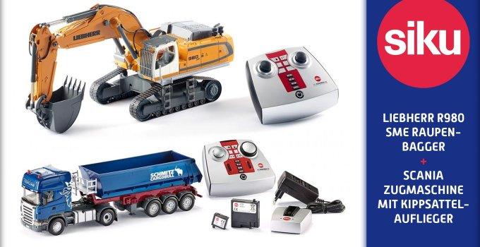 Siku ? Liebherr R980 SME Raupenbagger & Scania Zugmaschine mit Kippsattelauflieger