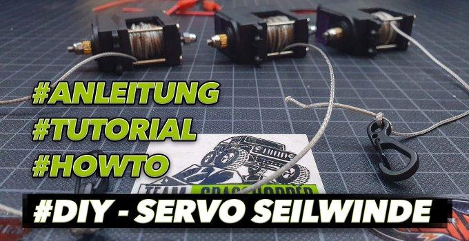 In 21 Schritten eine RC Servo Seilwinde leicht selber bauen. #diy #servowinch