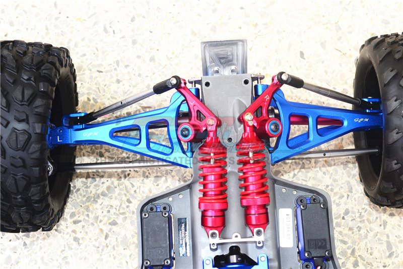 NEW TRAXXAS 1//10 SUMMIT COMPLETE SET OF ARMS A-ARMS FRONT AND REAR ADJUSTABLE