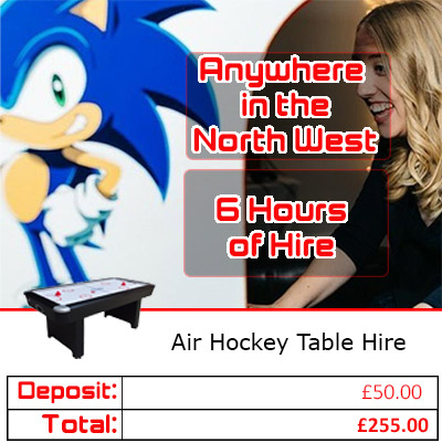 Air Hockey Hire pricing graphic