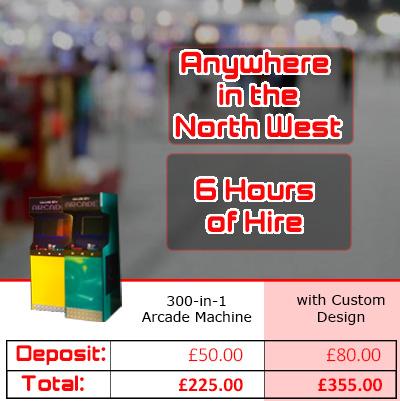 custom design arcade machine pricing graphic