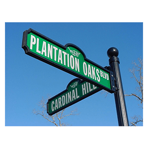 Plantation-Oaks-Street-Signs