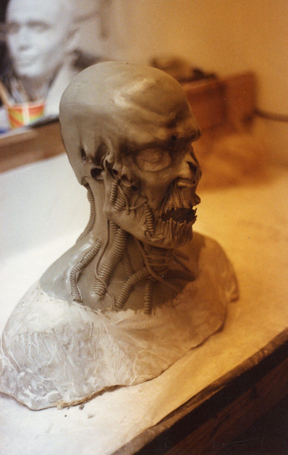 NoES5 Ironman head sculpt 2