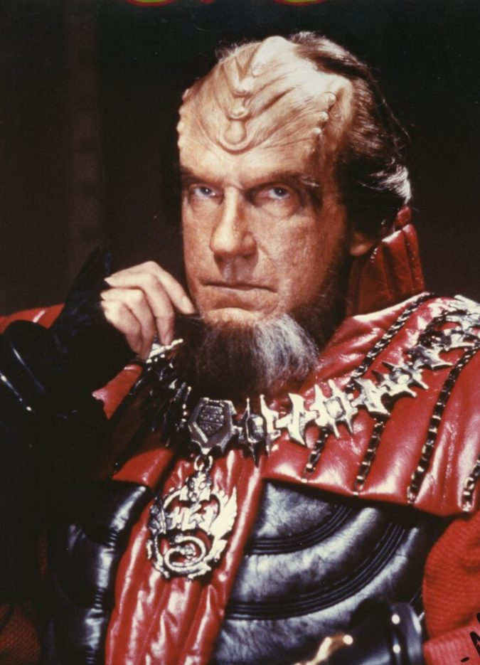 """Star Trek 6"" David Warner as Chancellor Gorkon"
