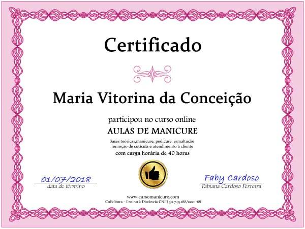 certificado curso manicure - Curso De Manicure E Pedicure, Passo A Passo Com Certificado Para Imprimir.