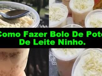 228 como fazer bolo de pote de leite ninho - Como Fazer Bolo De Pote De Leite Ninho (Receita Completa).