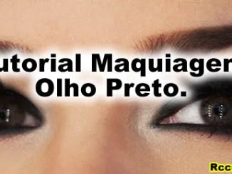 233 tutorial maquiagem olho preto - Como Fazer Maquiagem Olho Preto Passo A Passo.