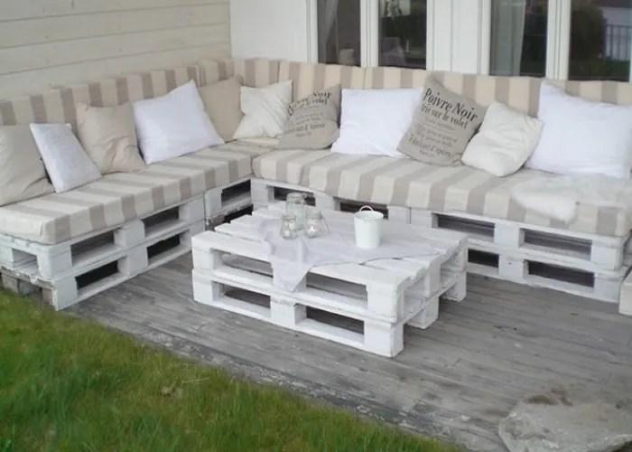 3 imagem sofa de pallet - Sofá De Pallet Para Sala Móveis Feito De Paletes (Imagens De Inspiração).