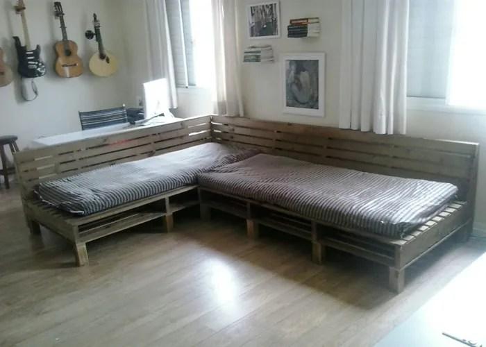 8 imagem sofa feito de pallets - Sofá De Pallet Para Sala Móveis Feito De Paletes (Imagens De Inspiração).
