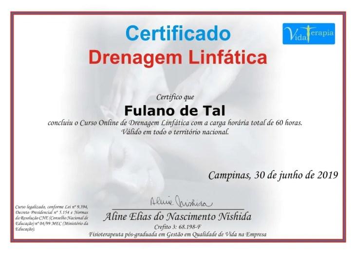 curso de drenagem linfatica com certificado - Curso De Drenagem Linfática Com Certificado.