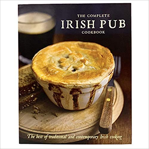 The Complete Irish Pub Cookbook features many pub favorites. A sampling of dishes are Scallop Chowder, Blue Cheese and Walnut Tartlets, Bacon Beet & Spinach Salad, Irish Stew, Dublin Coddle and Rhubarb Crisp
