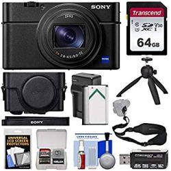 Sony Cyber-Shot DSC-RX100 VI 4K Wi-Fi Digital Camera with LCJ-RXF Jacket Case + 64GB Card + Battery & Charger + Tripod + Strap + Kit