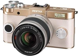 Pentax Q-S1 mirrorless camera has a compact design and fits all Q series lenses