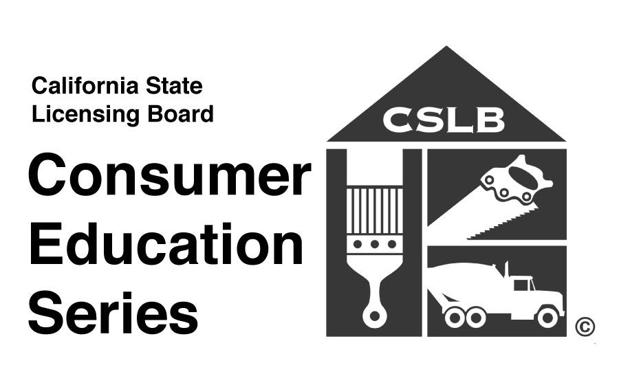 California State Licensing Board Consumer Education Series