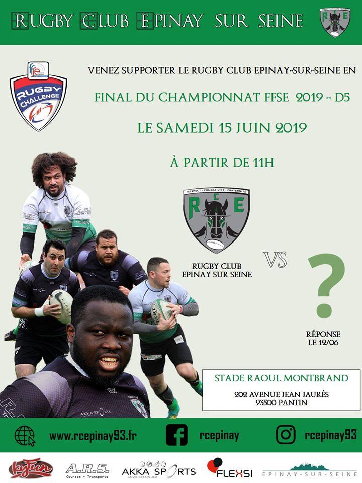 FINAL DU CHAMPIONNAT FFSE 2019 – D5 le Samedi 15 Juin 2019