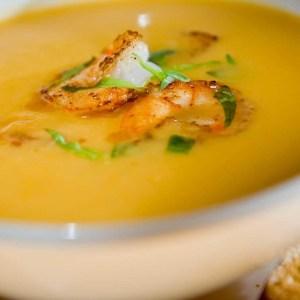 Reduced Sodium/Fat Pumpkin & Shrimp Bisque