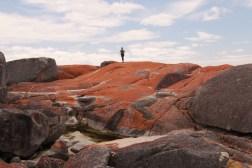 me running across the rocks