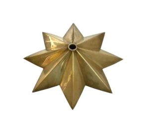 Brass star ceiling canopy for chandelier lights