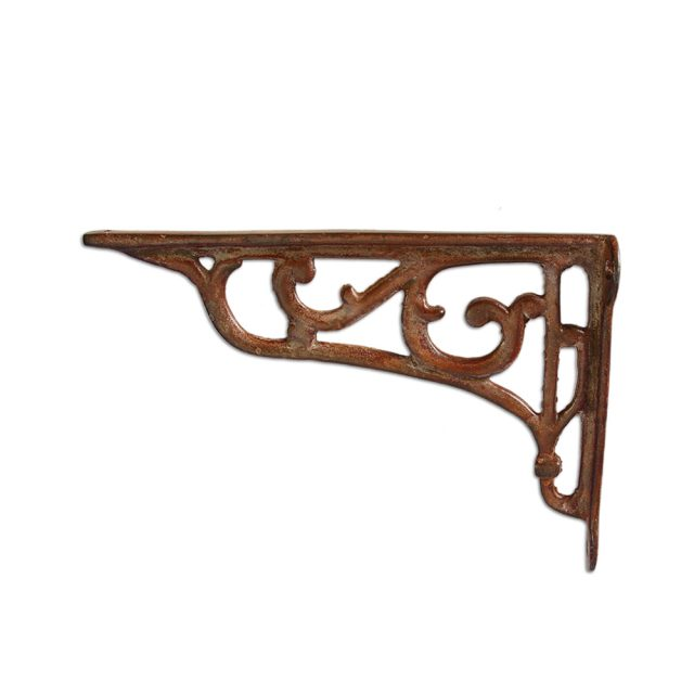 Shelf bracket in rustic country finish.