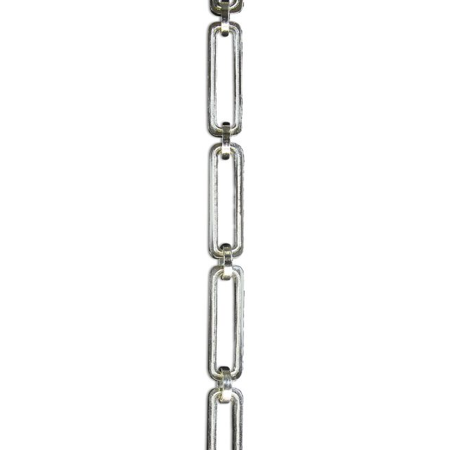 Solid brass chandelier chain in polished silver finish.