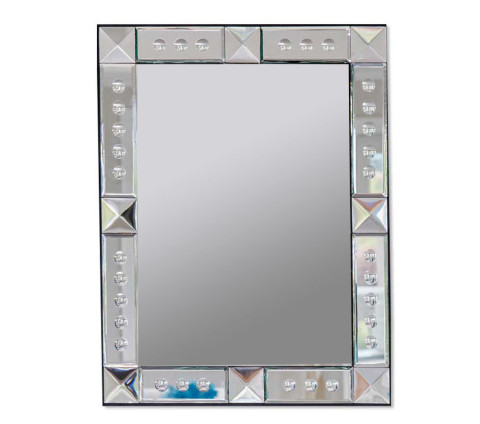 Large handcrafted glass mirror for interior wall mirrors.