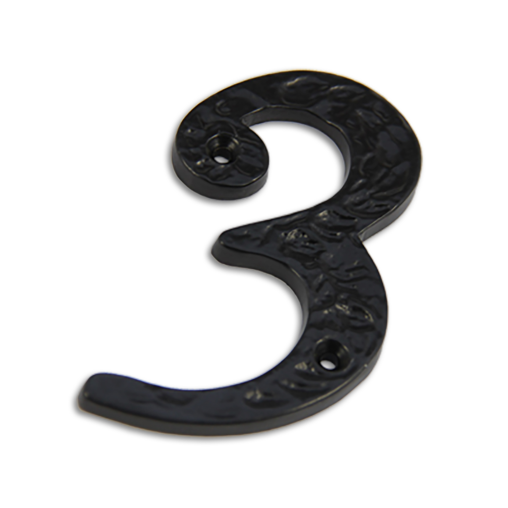4-inch iron metal house number in iron black finish - metal number 3