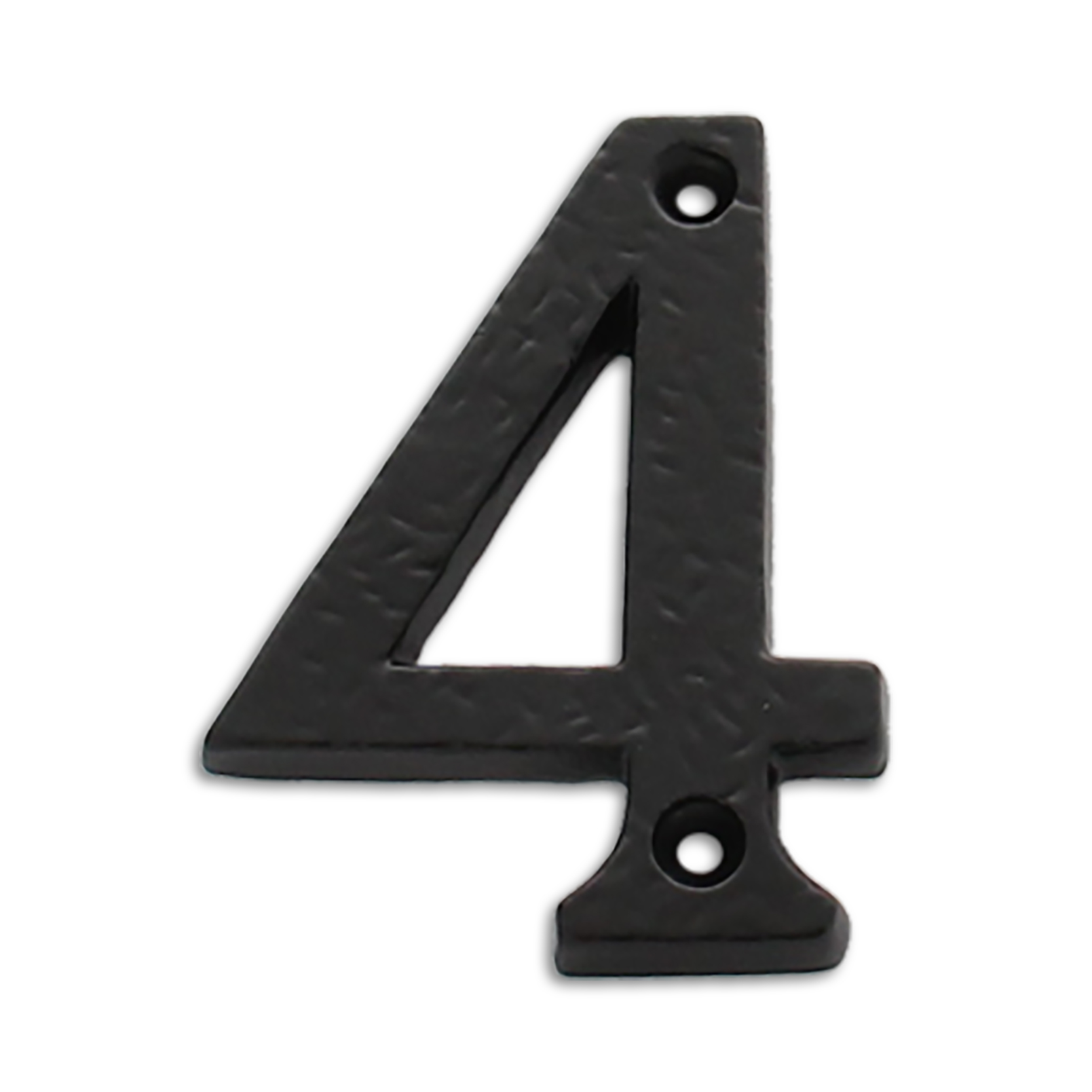 3-inch iron metal house number in iron black finish - metal number 4