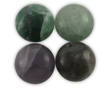 Elegance door knob and cabinet knobs are available in a variety of crystal and natural quartz materials including Fluorite.