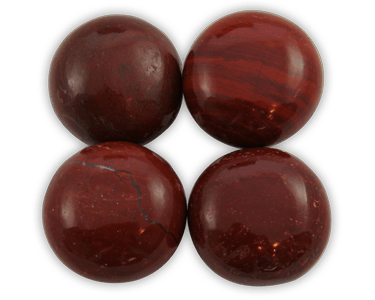 Elegance door knob and cabinet knobs are available in a variety of crystal and natural quartz materials including Red Jasper.
