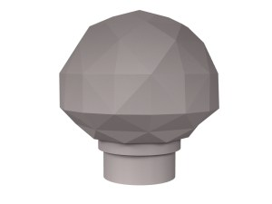 3D rendering of Elegance Diamond cut cabinet knobs.