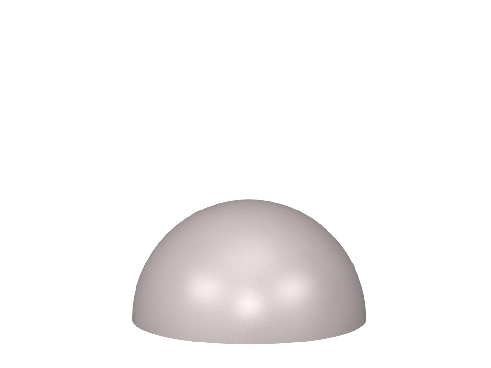 3D rendering of Elegance Dome cabinet knobs.