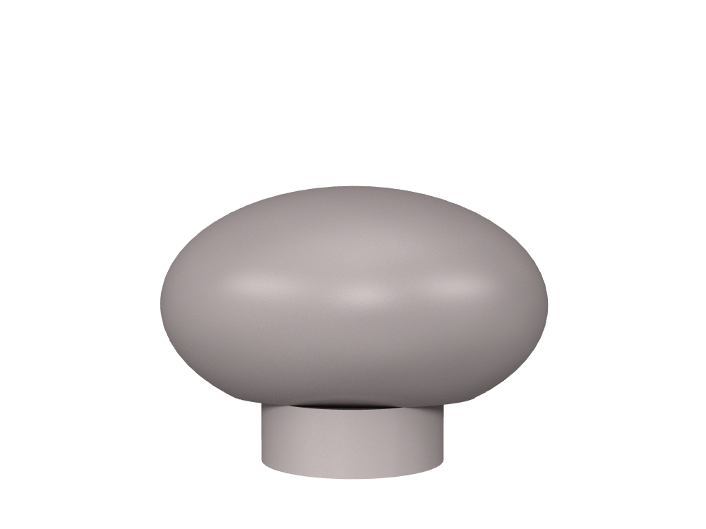3D rendering of Elegance Oval cabinet knobs.