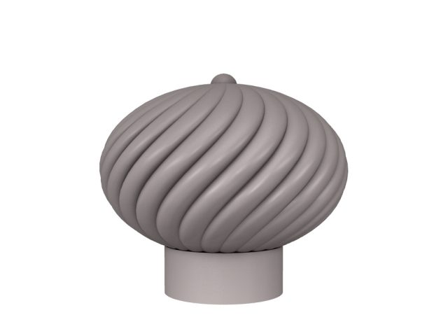 3D rendering of Elegance Swirl cabinet knobs.
