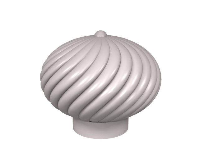 Swirl door knob design for stone, glass and crystal door knobs