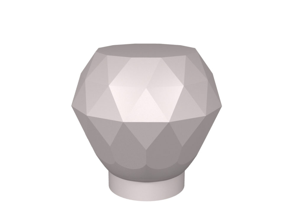 Tulip Diamond Cut door knob design for stone, glass and crystal door knobs