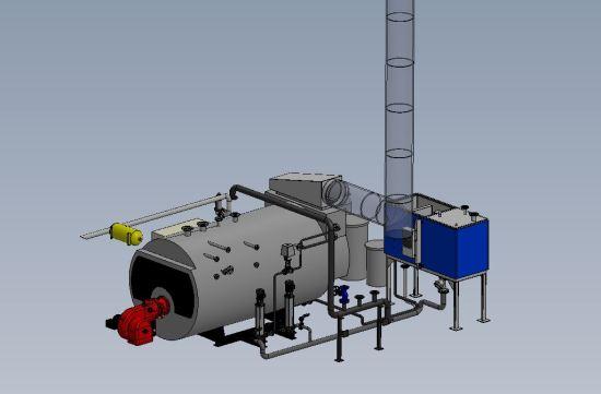 chaufferie vapeur 3D