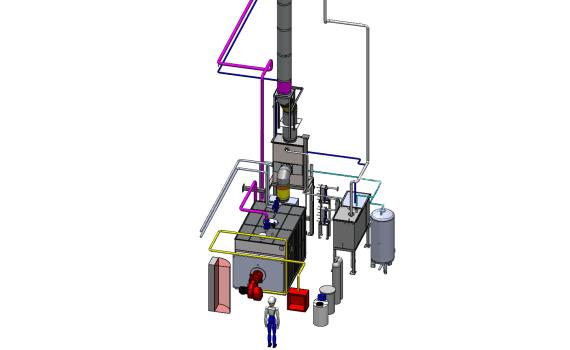schema 3d chaufferie vapeur