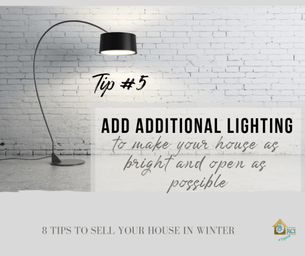 Add Additional Lighting when selling your home in winter