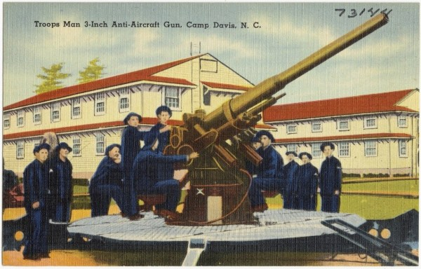camp davis anti-aircraft gun holly ridge nc rci plus topsail