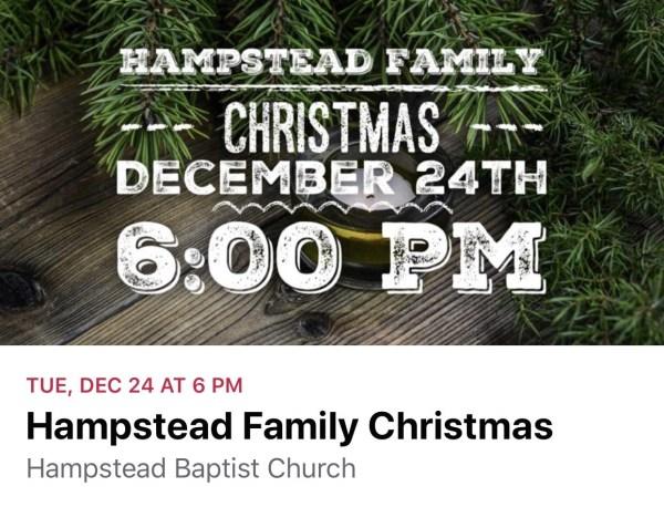 hampstead baptist church family christmas 2019