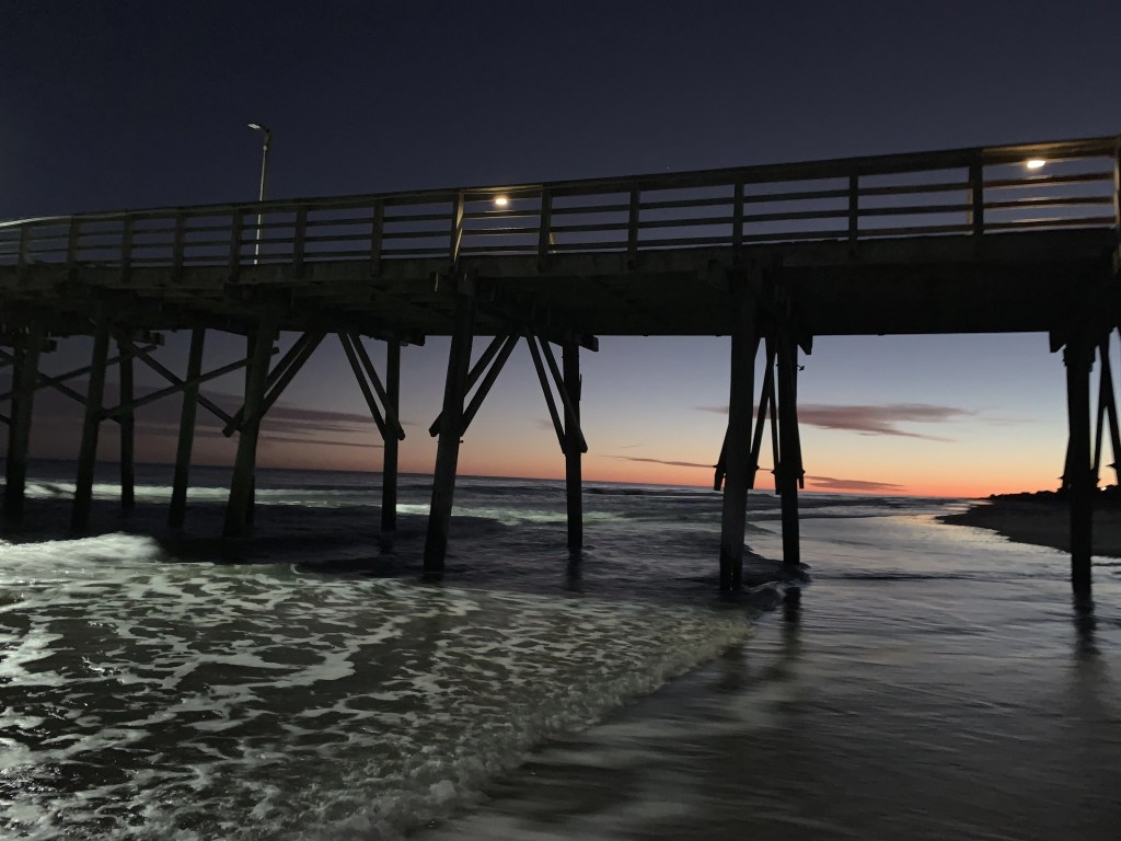 Sunset by the Jolly Pier Fishing Pier, captured by Deanna Grady (Feb 2019)