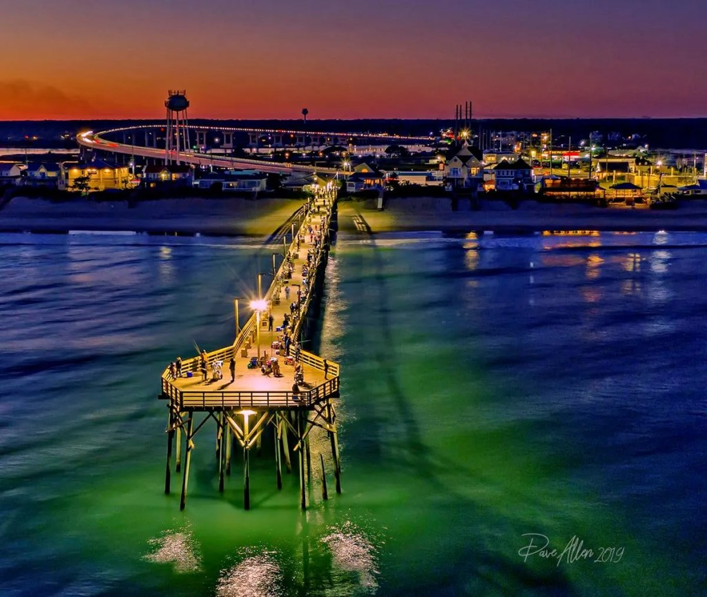 Surf City Pier at Night captured by Dave Allen Nov 2019