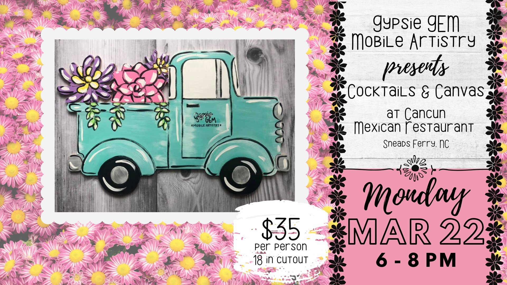 Cocktails & Canvas | Spring Truck - Sneads Ferry, NC