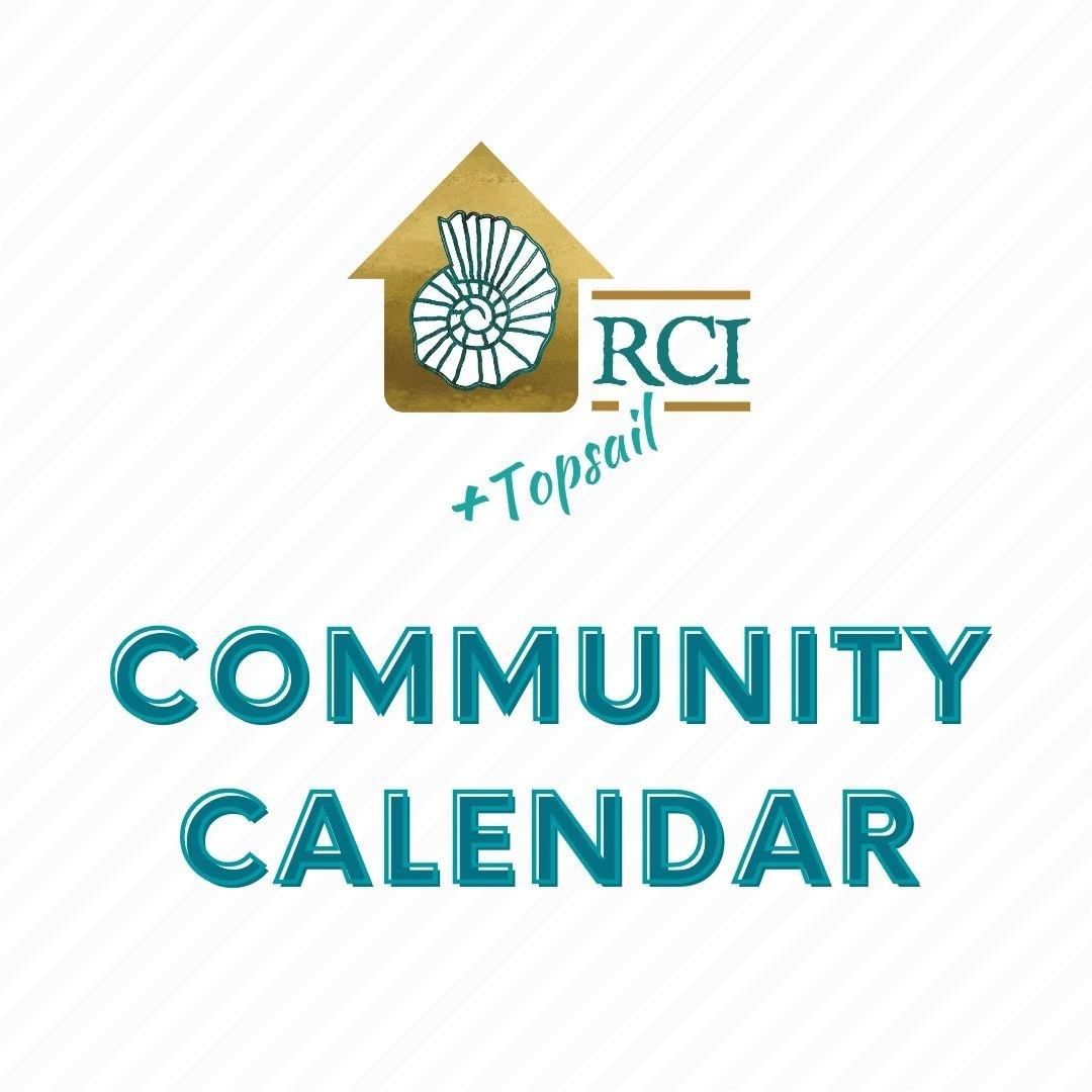 RCI + Topsail Community Calendar