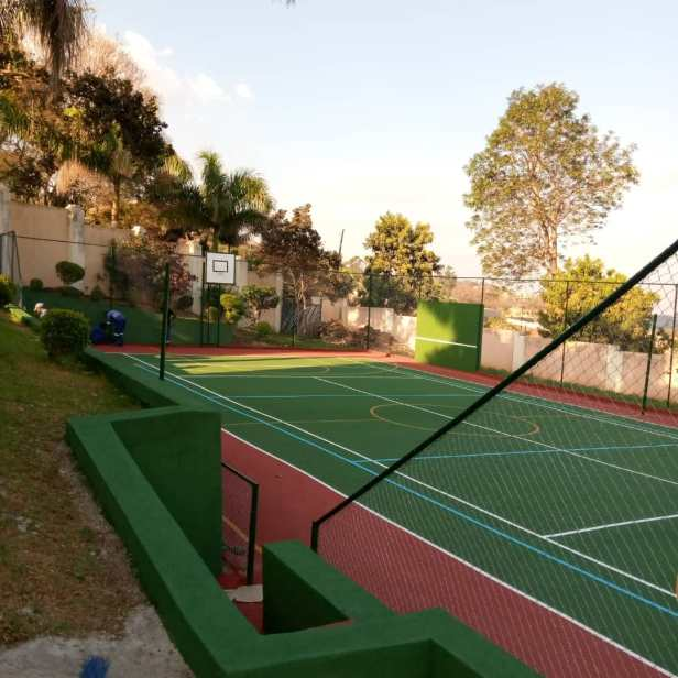 3c. Basketball court and fence after renovations