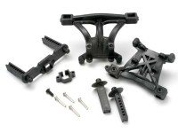 Body mounts, front & rear/ body mount posts, front & rear/ 2
